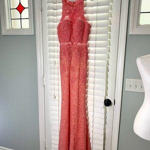 Abby Lee Rhinestone Embellished Pink Prom Dress